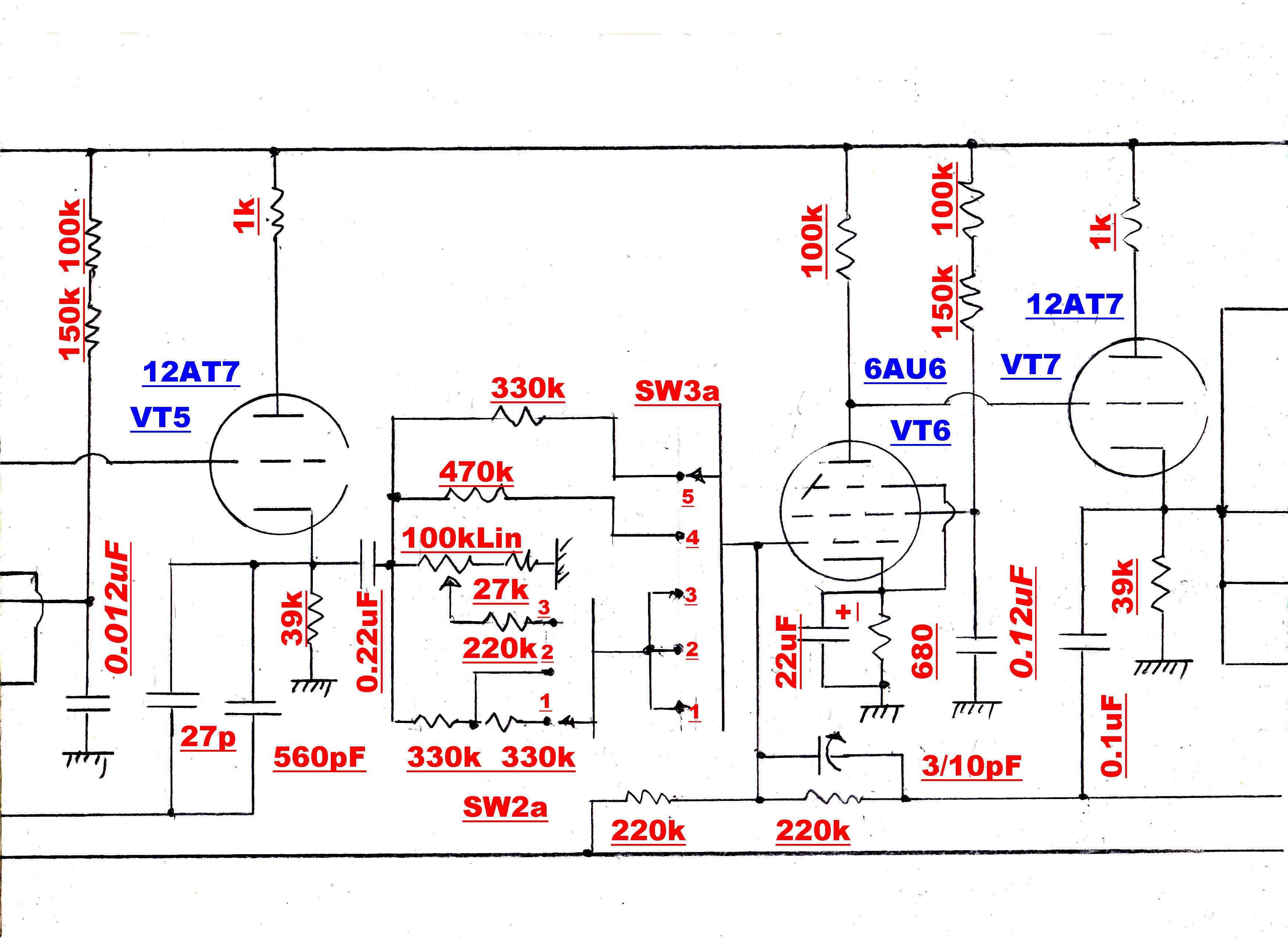 Amplitudemodulation Frequency Changer Circuit The Chosen For Calculation Is 250hz Bass Turnover Ease Of Reference Full Diagram Repeated