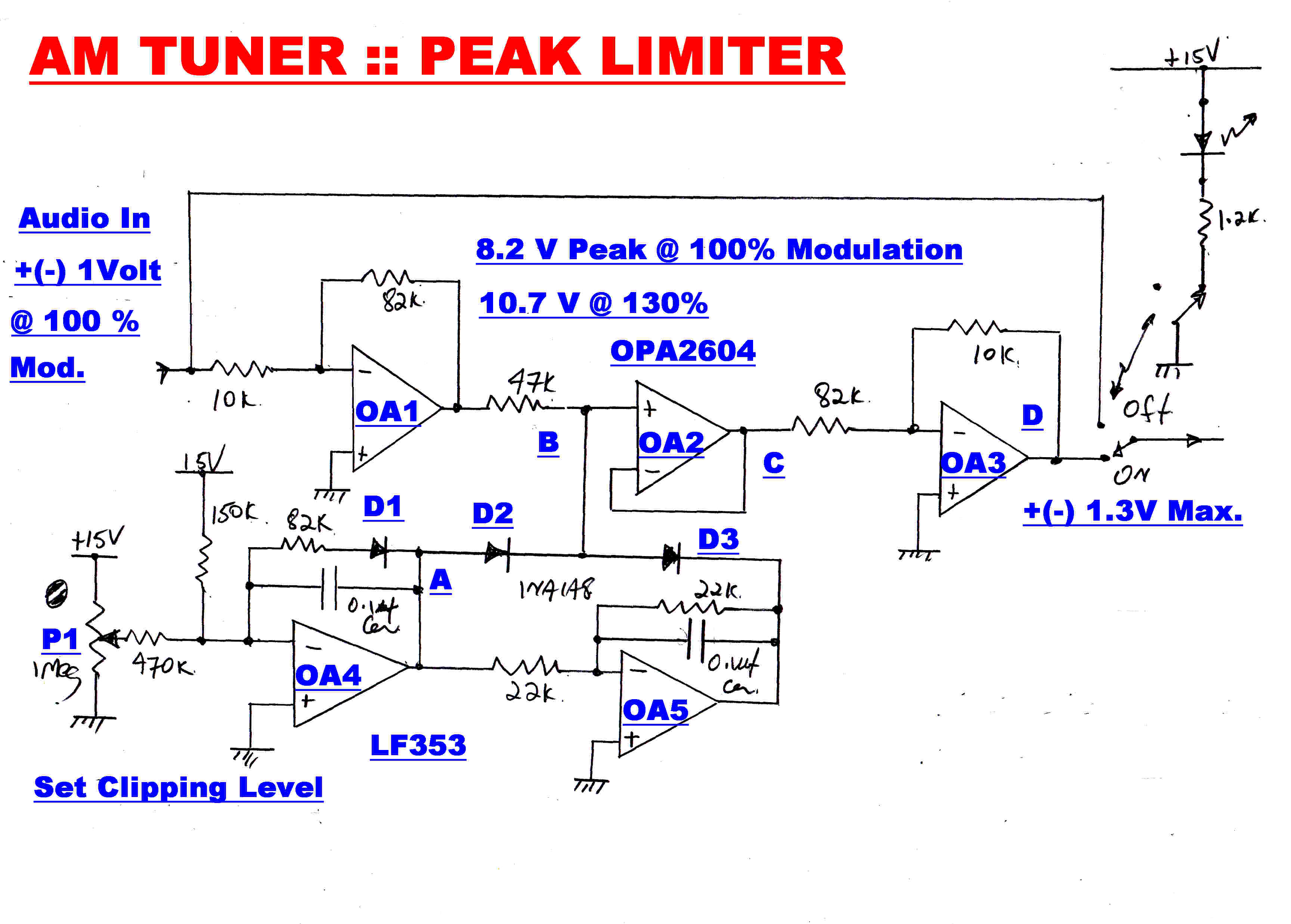 Peak Limiter Amplifier Schematic Trusted Wiring Diagram Vk6wia News Broadcast Transceiver Circuits Amplitudemodulation But Provision Is Made For Noisy Signals Which Also May Have Suffefred From Multipath Transmission