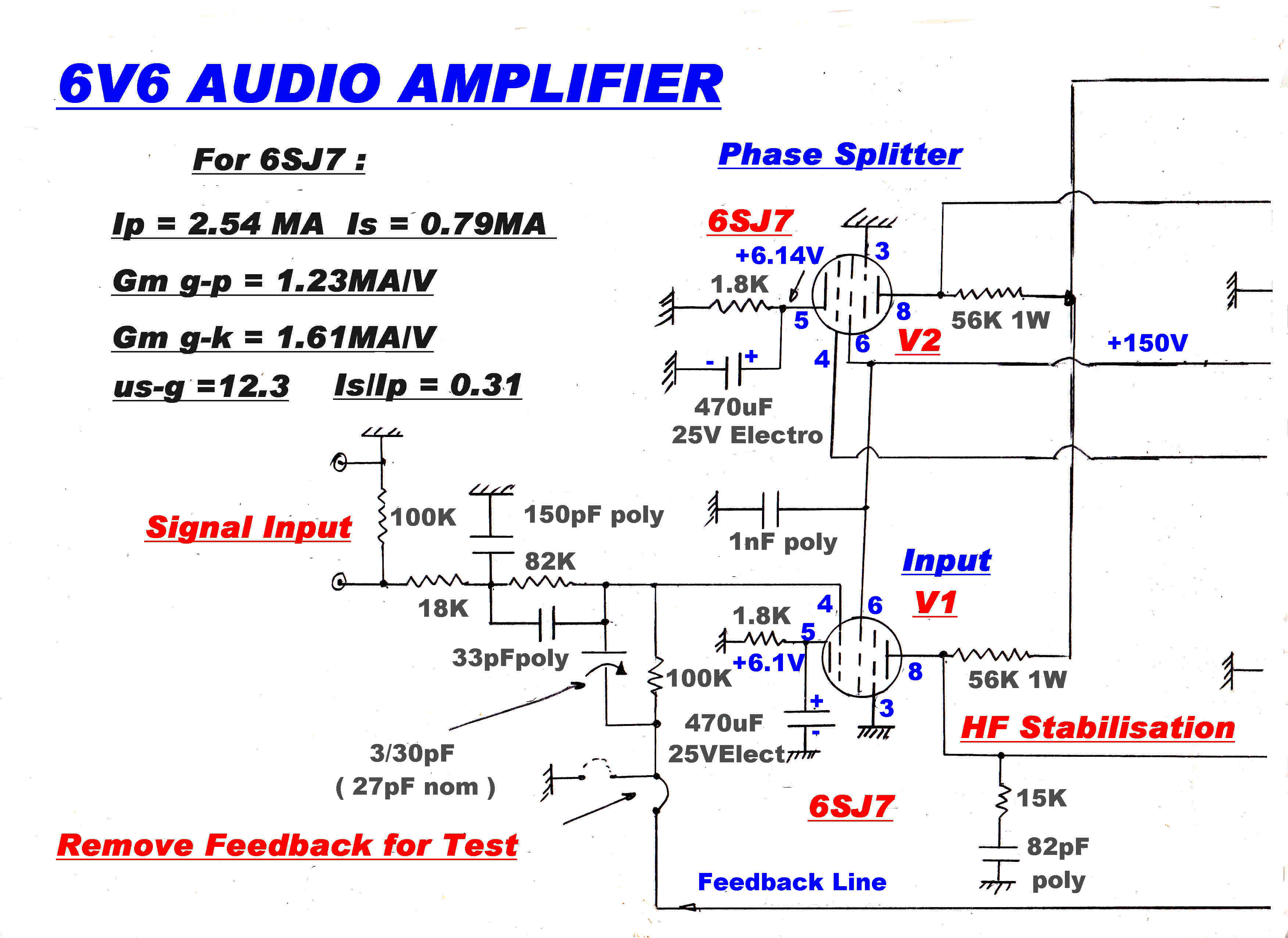 Amplitudemodulation Class C Amplifier Circuit Diagram 6v6